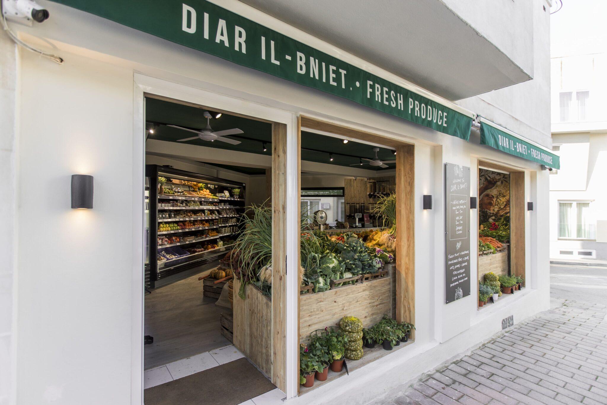 Inside of Shop and Vegetables